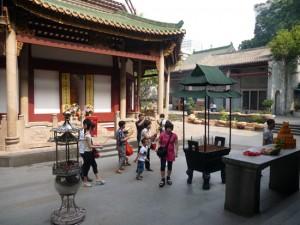 Cour du temple des six banians