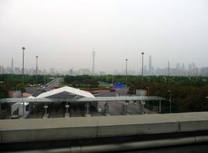 Guangzhou vue de Pazhou