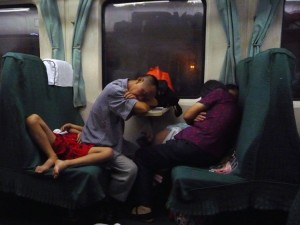 Famille train Chine