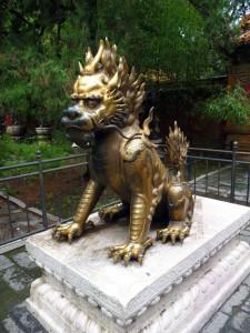 Statue Lion Cité Interdite