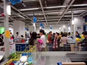IKEA Guangzhou caisses