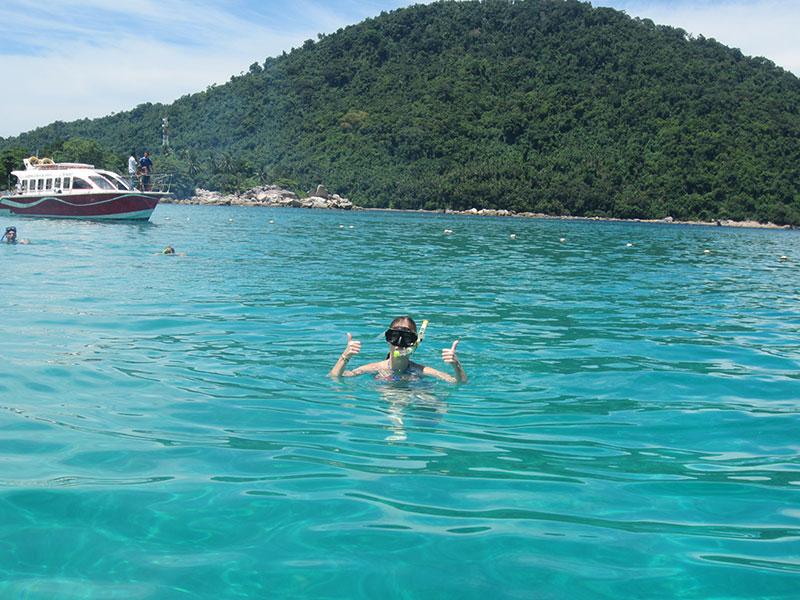 snorkelling ile perhentian