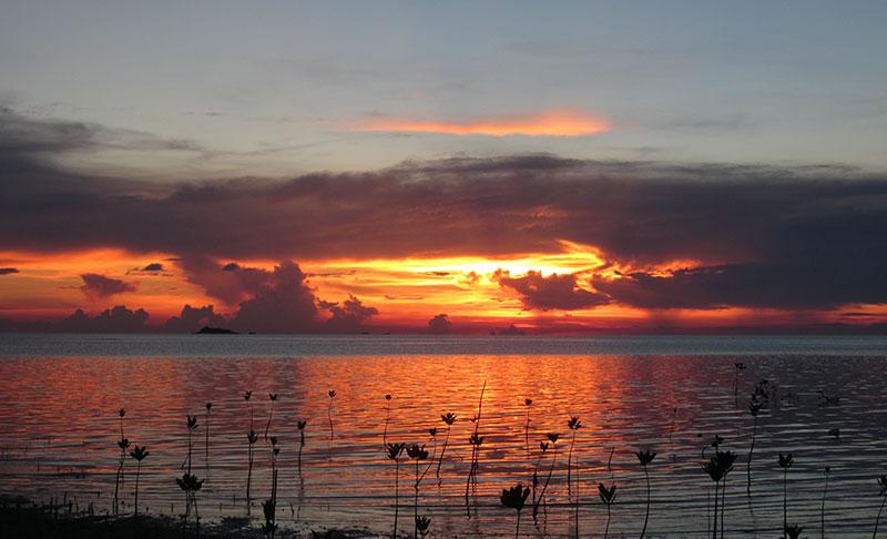 coucher de soleil baie Hin Kong