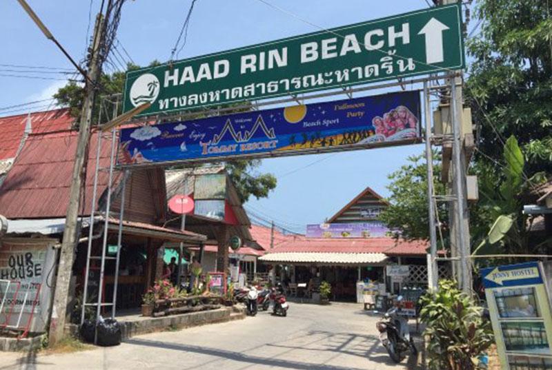 Panneau pour la plage de Haad Rin