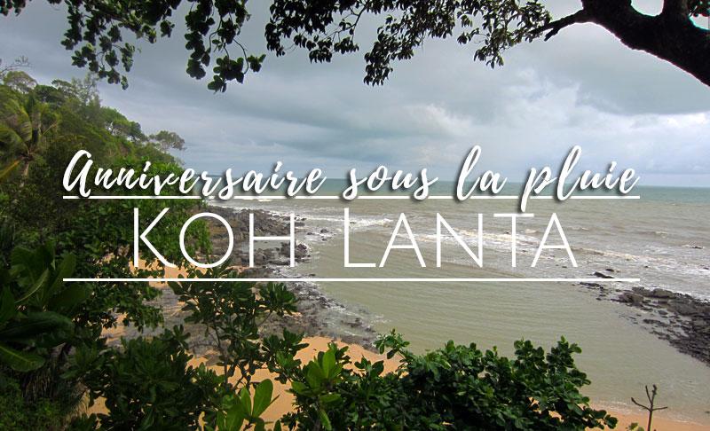 anniversaire à Koh Lanta