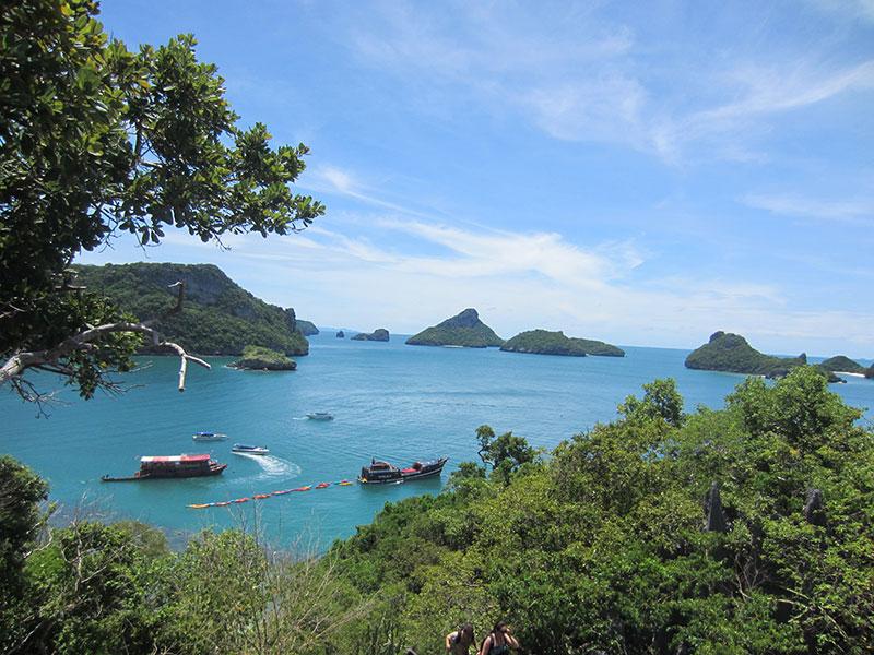 vue sur les iles Angthong