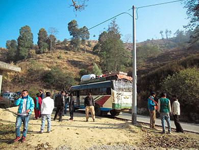 Pause bus Népal