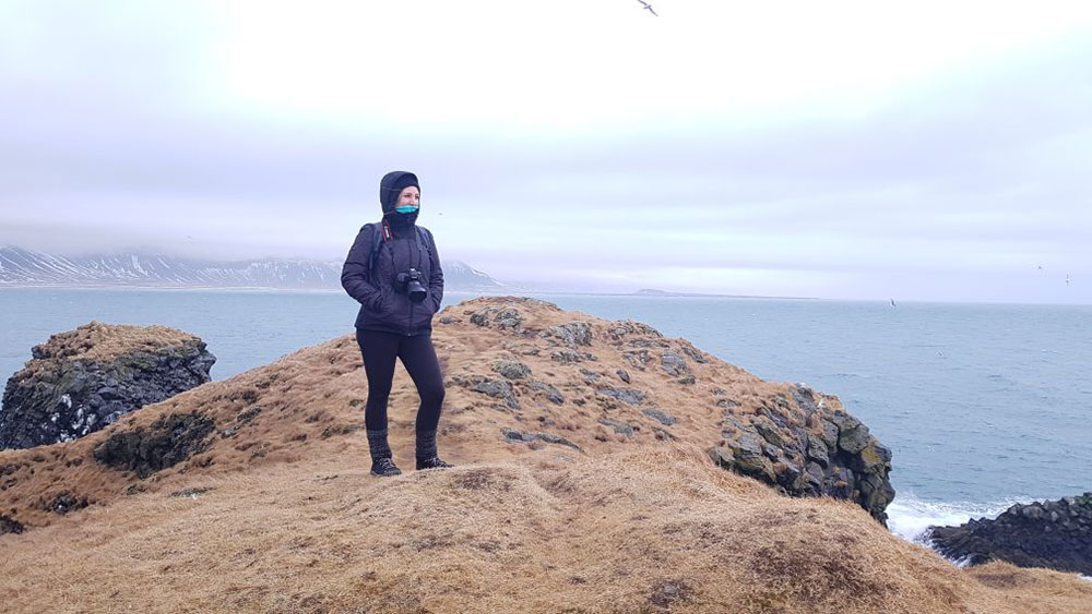 Équipement de Charlène pour l'Islande en hiver